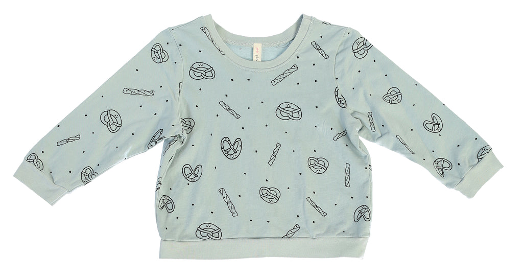 Pretzel Mix Sweatshirt, Dusty Blue