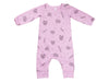 Pretzels Mix French Terry Baby Romper, Peony Pink