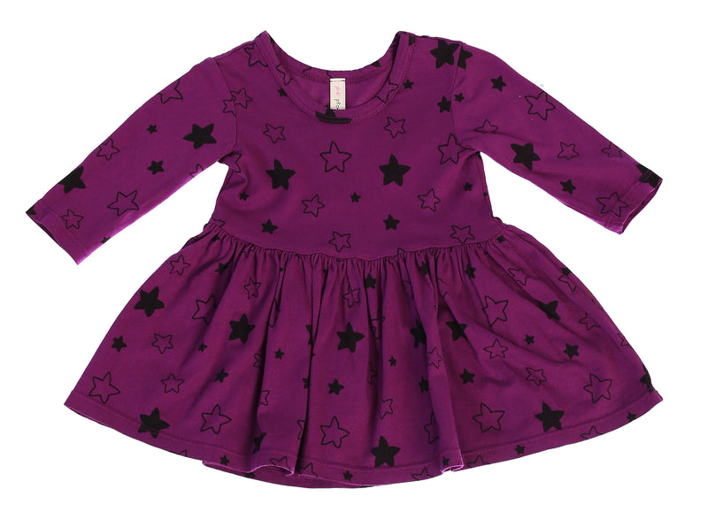 Star Bright Mid Waist Dress, Mulberry