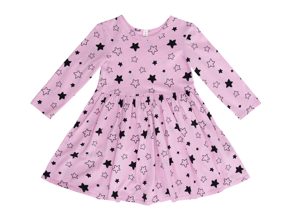 Star Bright Mid Waist Dress, Peony Pink