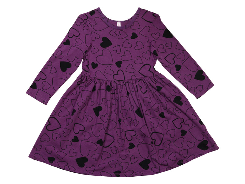 Confetti Love Mid Waist Dress, Plumberry