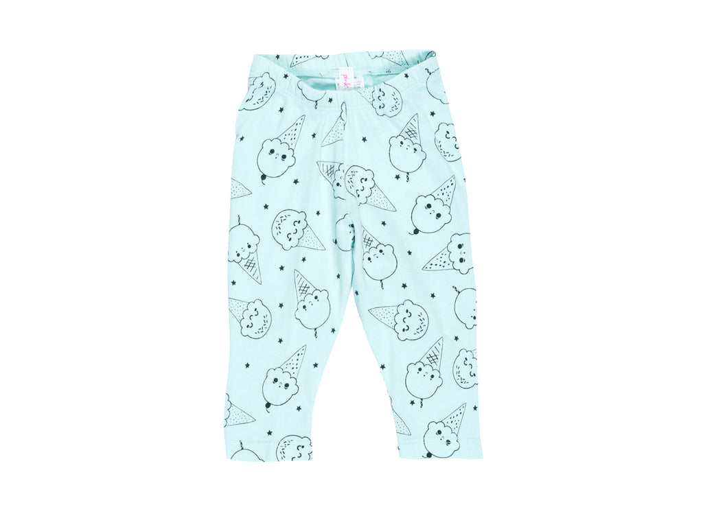 Ice Cream Smiles Capri Leggings in Marvelous Mint