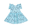 Whale Ruffle Tank Dress, Baby Blue