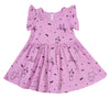 Puppy Party Ruffle Tank Dress, Peony Pink