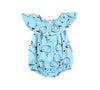 Whale Bubble Onesie with Flounce, Baby Blue