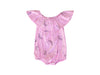 Dragonfly Dreams Bubble Onesie with Flounce, Peony Pink