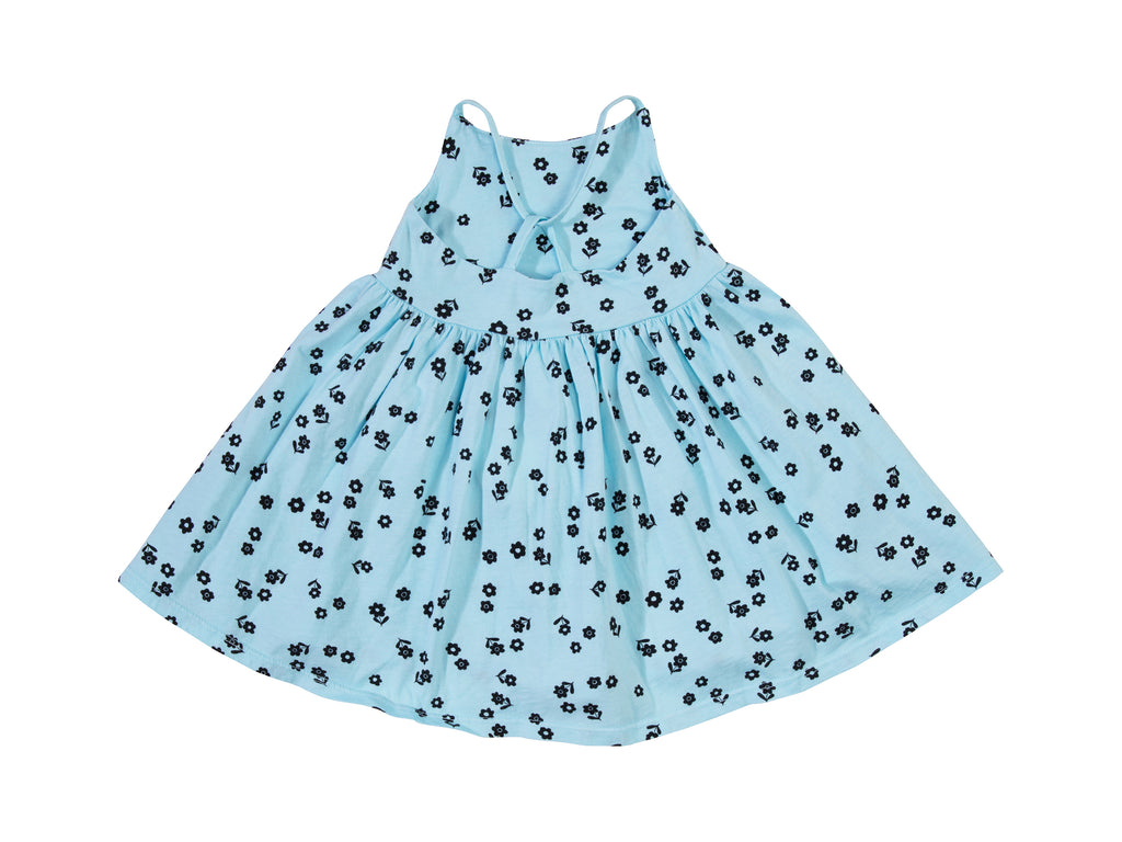 Confetti Fleur Cross Back Dress, Baby Blue