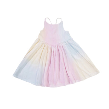 Cross Back Dress, Unicorn Rainbow