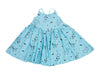 Puppy Party Cross Back Dress, Baby Blue