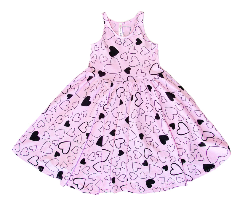 Confetti Love Twirl Dress, Peony Pink