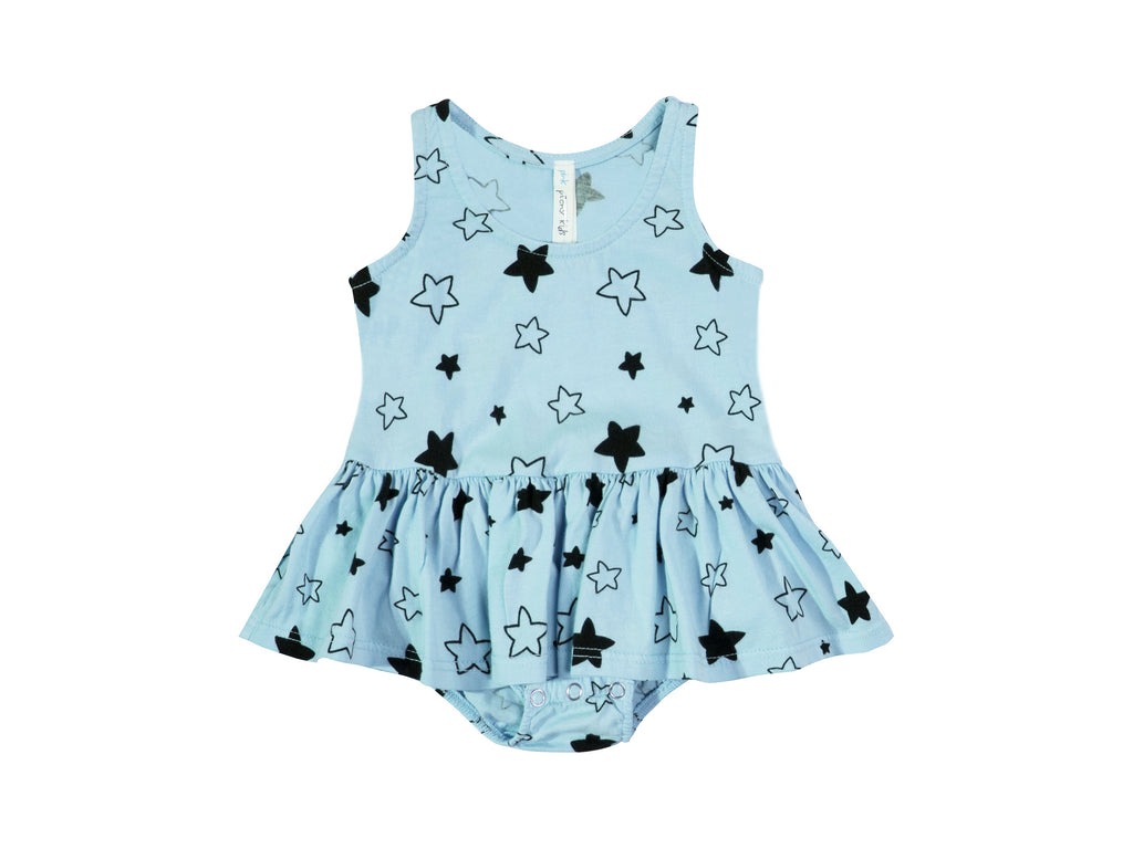 Star Bright Tutu Onesie, Baby Blue