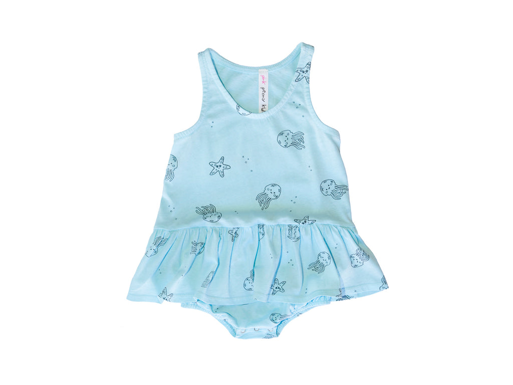 Jelly Star Tutu Onesie, Baby Blue