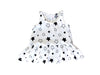 Star Bright Tutu Onesie, White