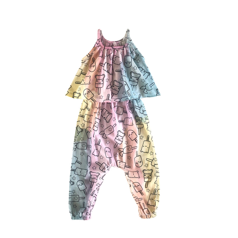 Popsicle Smiles Baby Swing Romper, Unicorn Rainbow