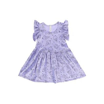 Ice Cream Smiles Ruffle Tank Dress, Lavender