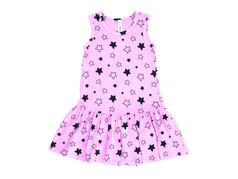 Star Bright Drop Waist Dress in Peony Pink