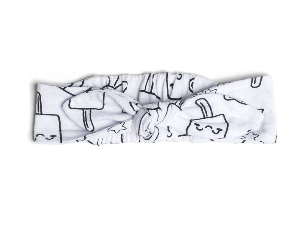 Popsicle Smiles Print Headband in White