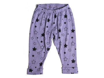 Star Bright Print Pants, Violet