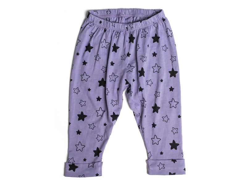 Star Bright Print Pants in Violet
