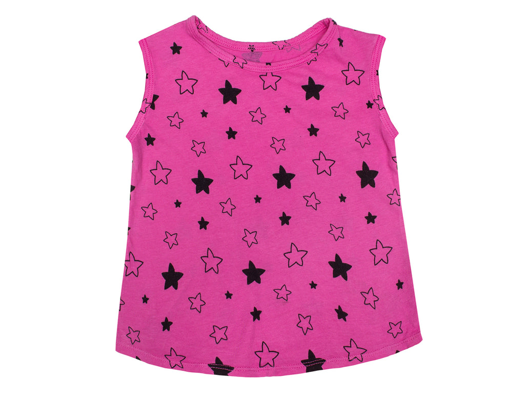 Star Bright Print Tank Top in Fuchsia