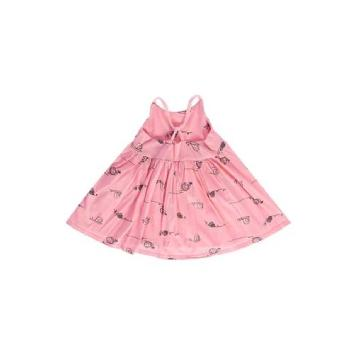 Little Miss Escargot Cross Back Dress, Papaya