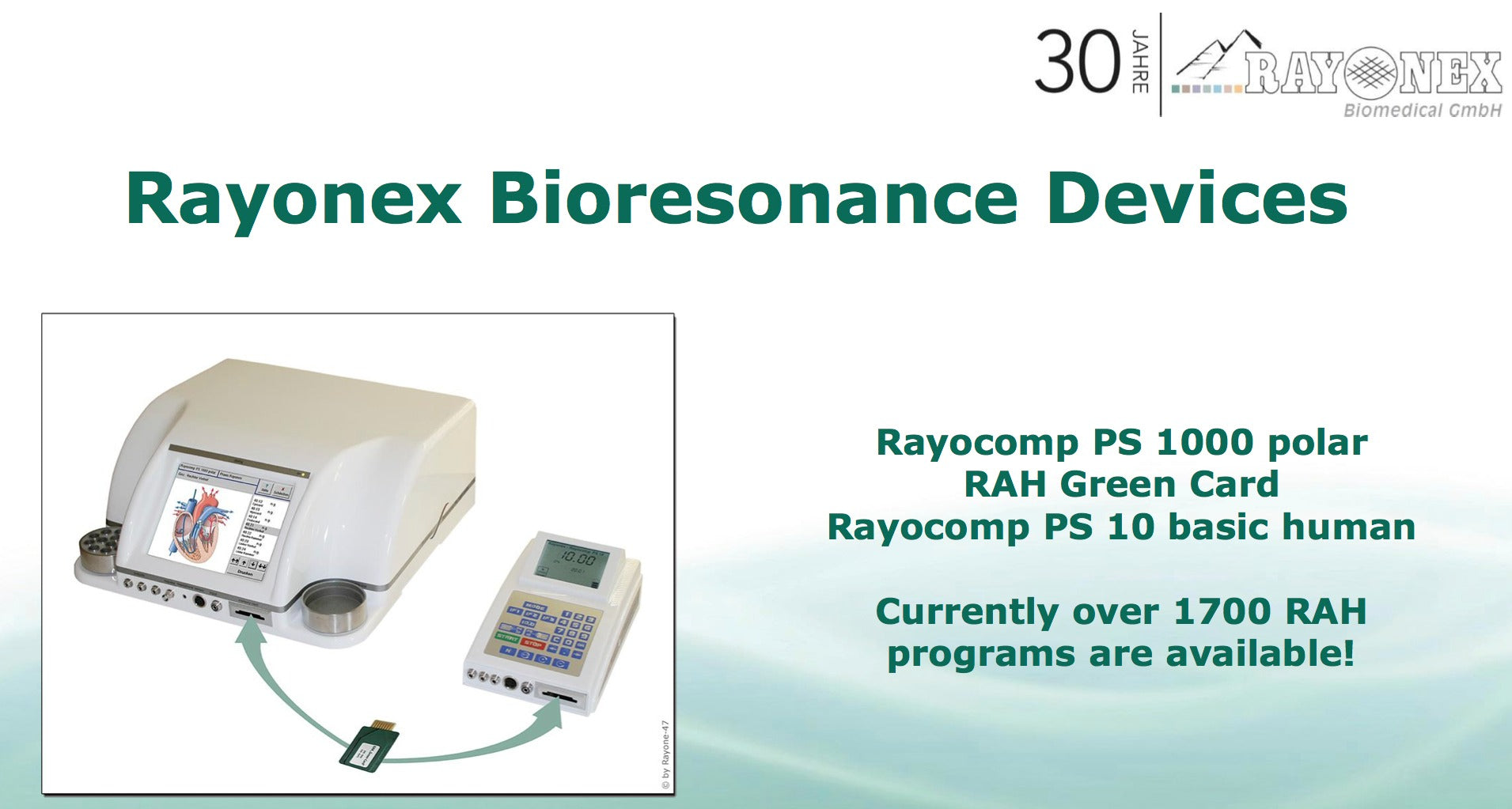 Rayonex Bioresonance Devices - Rayocomp PS1000 Polar