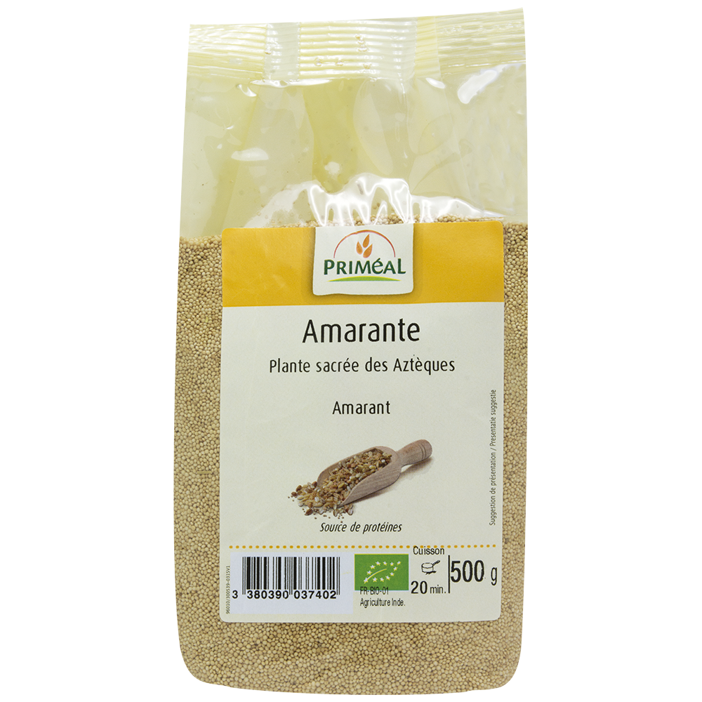法國有機全穀莧菜籽 Priméal Organic Whole-grained Amaranth (500g)