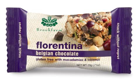 澳洲農場無麥麩黑朱古力雜錦小食棒 (細條) Brookfarm Gluten Free Macadamia and Belgian Chocolate Florentina Bar (20g)