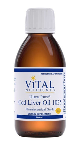 純淨鱈魚魚肝油 Vital Nutrients Ultra Pure Cod Liver Oil 1025 (200ml)