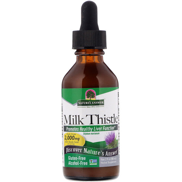 清肝液態乳薊草 (不含酒精) Nature's Answer Milk Thistle (60ml)