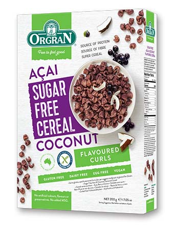 無麥麩低糖椰子巴西莓早餐穀物 Orgran Sugar Free Acai and Coconut Cereal (200g)