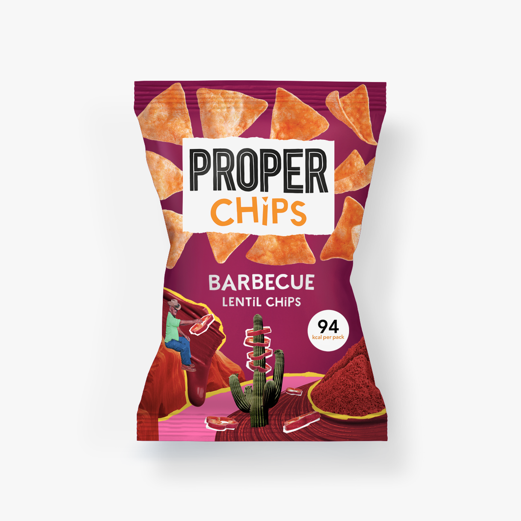 小扁豆脆片BBQ風味 (細) Proper Chips Barbecue Lentil (20g)