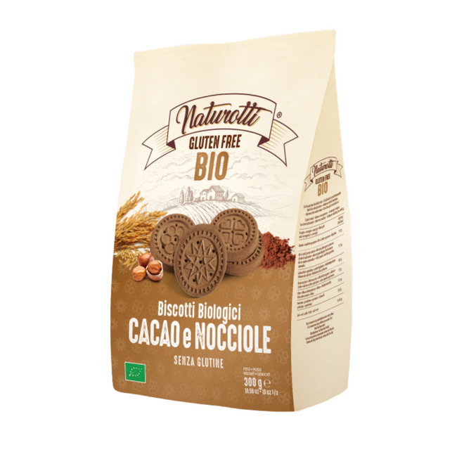 意大利無麥麩有機朱古力榛子餅 Gluten-free Organic Biscuits with Cocoa and Hazelnuts (300g)