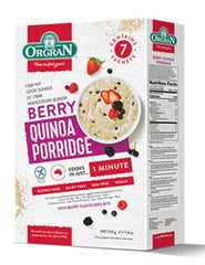 無麥麩藜麥雜糧糊(莓子)Orgran Gluten-free Quinoa Porridge with Berry (210g)