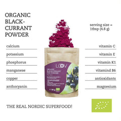 有機黑加侖子粉 (凍乾) Loov Freeze Dried Organic Blackcurrant Powder (90g)