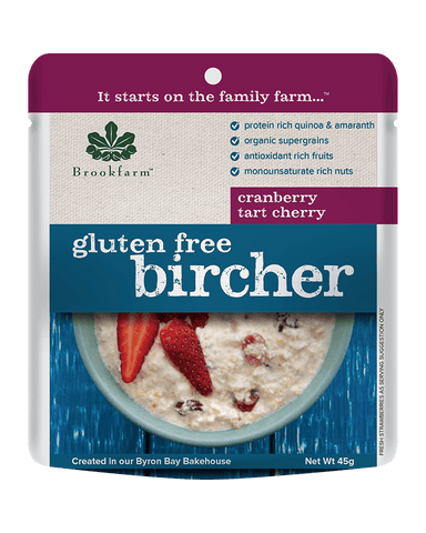 澳洲農場無麥麩藜麥果仁莓子早餐 (細包) Brookfarm Gluten Free Quinoa and Nut Muesli with Tart Cherries Sachet (45g)