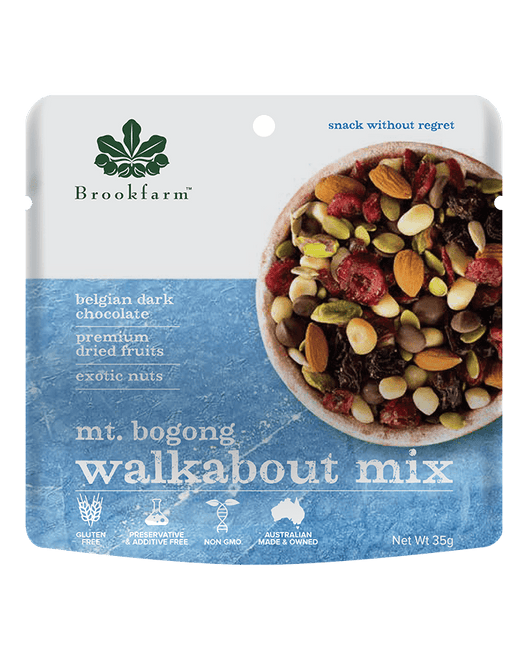 澳洲農場無麥麩乾果果仁黑朱古力小食 (細) Brookfarm Gluten Free Nut, Fruit and Dark Chocolate Walkabout Mix (35g)