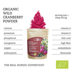 有機野生小紅莓粉 (凍乾) Loov Freeze Dried Organic Wild Cranberry Powder (90g)