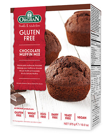 無麥麩朱古力鬆餅混合粉 Orgran Gluten-free Chocolate Muffin Mix (375g)