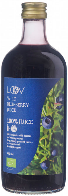 Loov 有機森林野生藍莓汁 Organic Wild Blueberry Juice (500g)