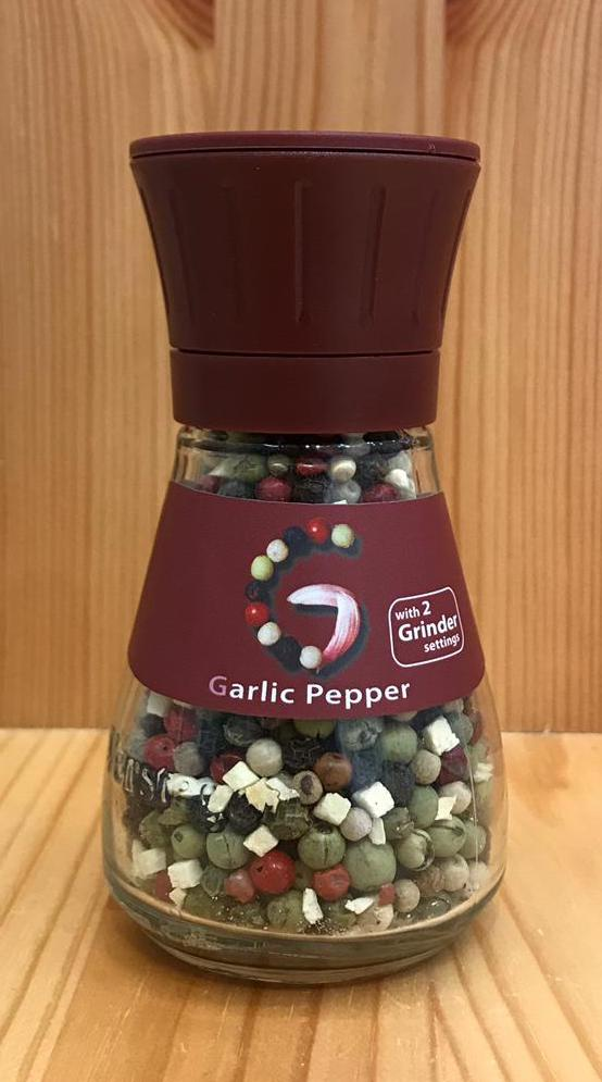 即磨香蒜雜錦原粒胡椒 Garlic Peppercorns with grinder (28g)