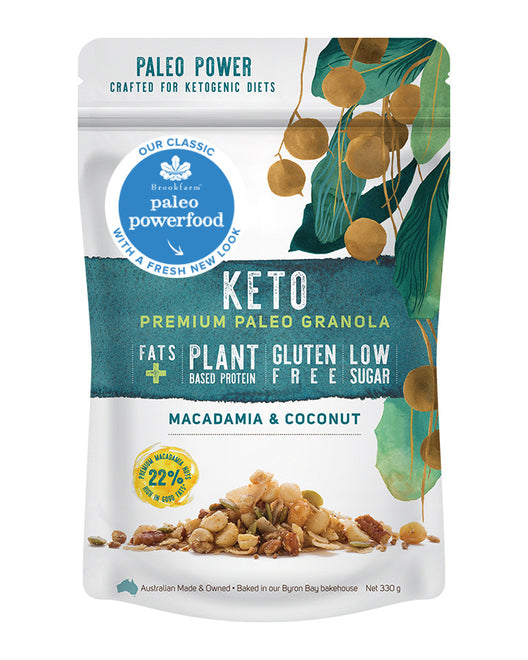 澳洲農場生酮堅果椰子早餐 Brookfarm Keto Paleo Granola with Macadamia and Coconut (330g)