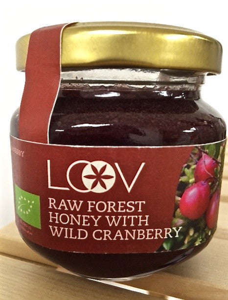 Loov 有機小紅莓粉原生蜂蜜 Raw Forest Honey with Wild Cranberry (150g)