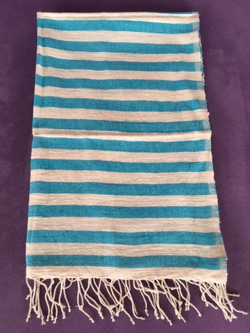 非洲抹手小棉布 (天藍) Ethiopian Hand Towel (Sea Blue)