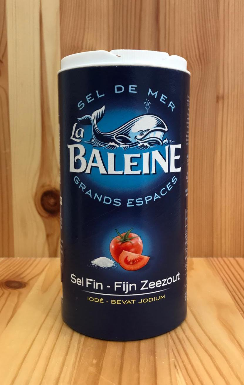 鯨魚牌加碘幼海鹽 (細) La Baleine Iodised Fine Sea Salt (500g)