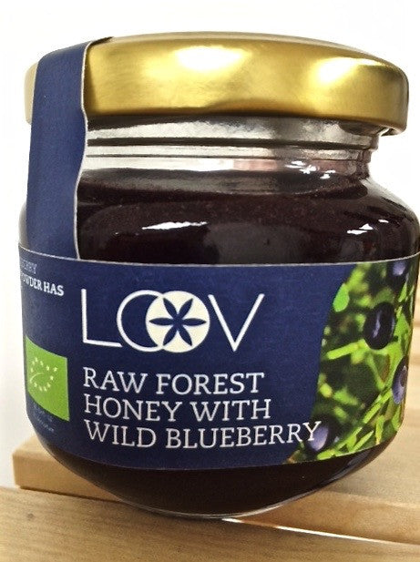 Loov 有機藍莓粉原生蜂蜜 Raw Forest Honey With Wild Blueberry (150g)