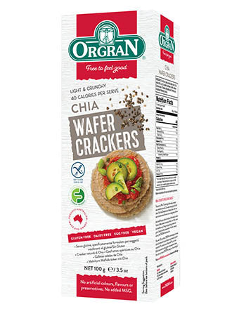 無麥麩奇亞籽威化脆餅 Orgran Gluten-free Chia Wafer Crackers (100g)
