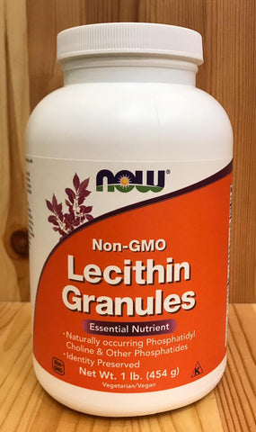卵磷脂顆粒 (無基因改造) Now Lecithin Granules - non-GMO (454g)