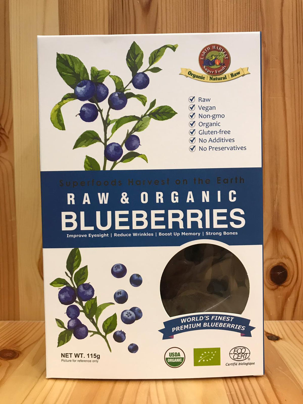 有機生機藍莓乾 Organic Raw Blueberries (115g)
