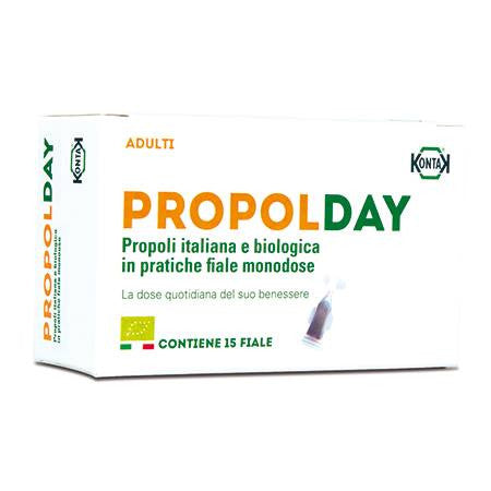有機蜂膠保健飲劑 (含酒精) Propolday Organic Propolis Supplement with alcohol (15 vials)